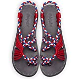 Amazon Price History for:Summer Braided Rope Flat Sandals Casual Vacation Beach Shoes For Women Teenagers Girls By Everelax