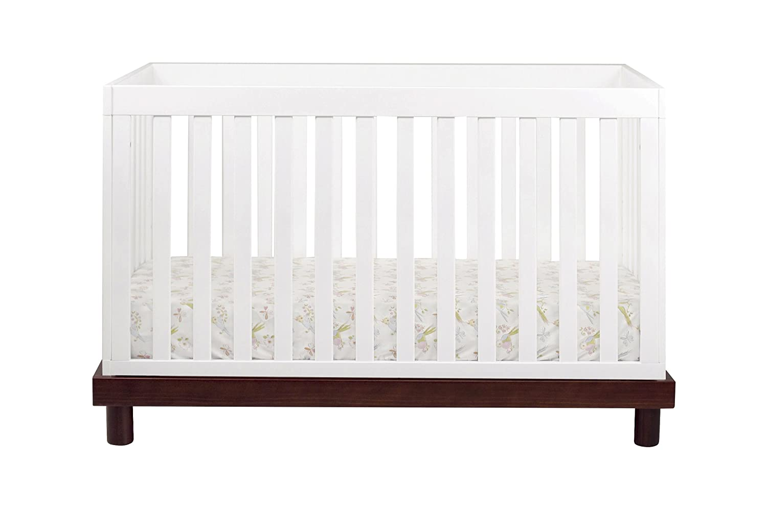 amazoncom  babyletto madison in convertible crib with  - amazoncom  babyletto madison in convertible crib with toddler railespresso and white (discontinued by manufacturer)  baby