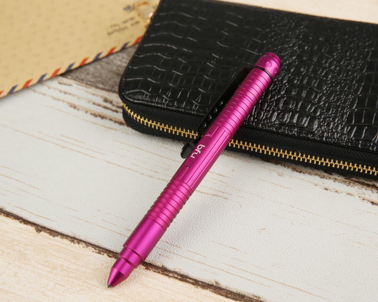 Tactical Pen Self Defense Tool EDC Herramienta de Supervivencia Multifuncional de Escritura Suave Rosado