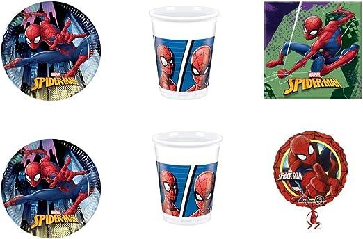 Spiderman Home Coming Hombre Araña coordinato addobbi Día Kit N ...