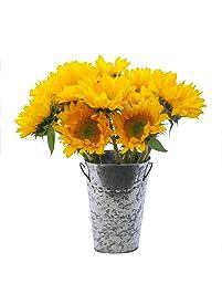 Stargazer Barn Beautiful Fresh Sunflower Bouquet With Vase
