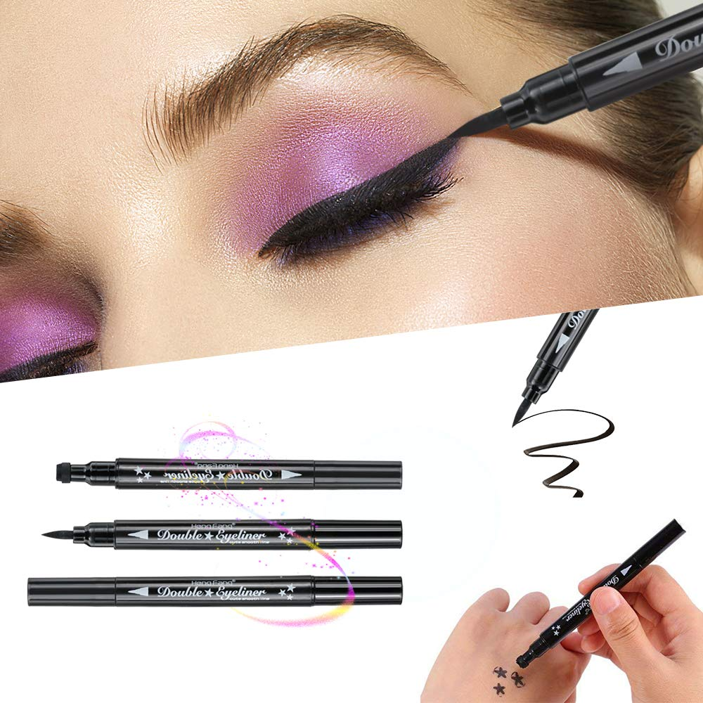 Herwiss Liquid Eyeliner Pencil 2 In 1 Waterproof Eyeliner Stamp