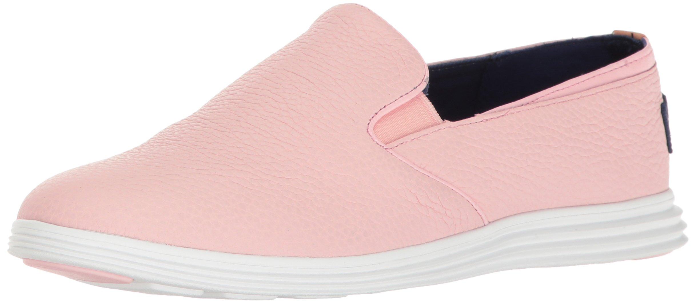 Cole Haan Women's Ella Grand 2gore Slip-On Loafer, Seashell Pink/Optic White, 8.5 B US