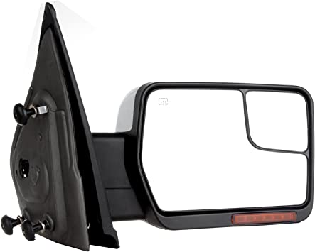 AUTOMUTO Towing Mirrors Fits For with 2004-2007 Ford F-150 Pickup Truck A Pair Left Driver Right Passenger Side Tow Mirrors Power Adjusted Heated Turn Signal Light