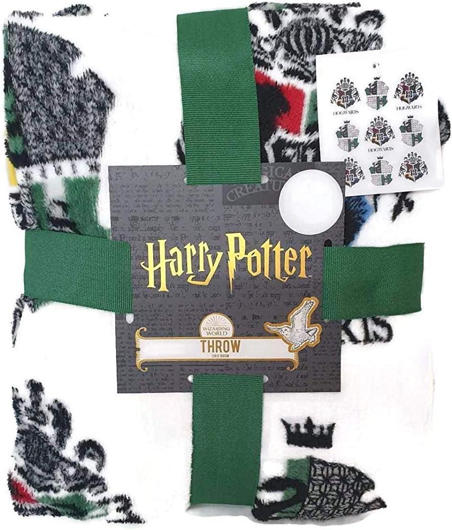 Harry Potter Mágica Mundo Manta Todos Casa Slytherin Hufflepuff Gryffindor Ravenclaw 120cm X 150CM - Verde - Slytherin