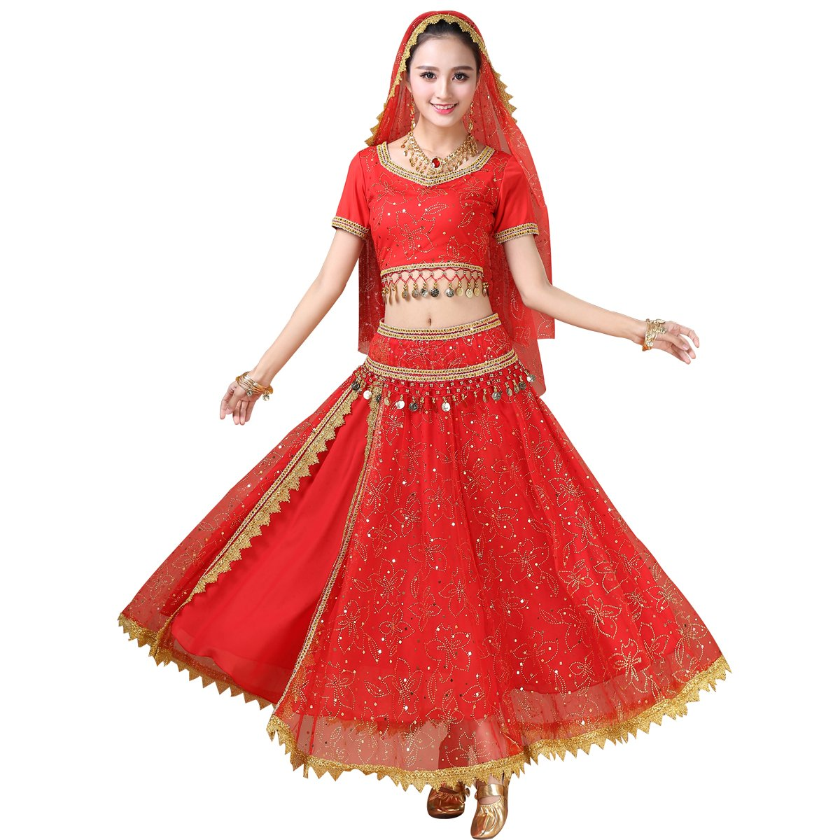 MISI CHAO Belly Dance Costume - Bollywood Dress Chiffon Dance Dress for Women/Girls MISICHAO HY