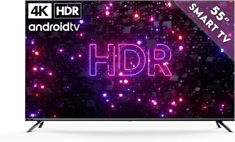 KAGIS U55IP7UHD - Monitor / TV sin sintonizador (4K Ultra HD, HDR, sin sintonizador, Smart TV, Android TV 9, mando a distancia con micrófono, vídeo, Netflix y YouTube): Amazon.es: Electrónica