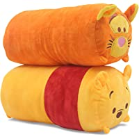 Finex - Set of 2 - Winnie the Pooh and Tigger Tsum Tsum Series Plush Pillow Stackable Long Cushion