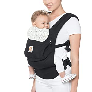 Ergobaby Carrier, Original 3-Position Baby Carrier with Lumbar Support and Storage Pocket, Downtown