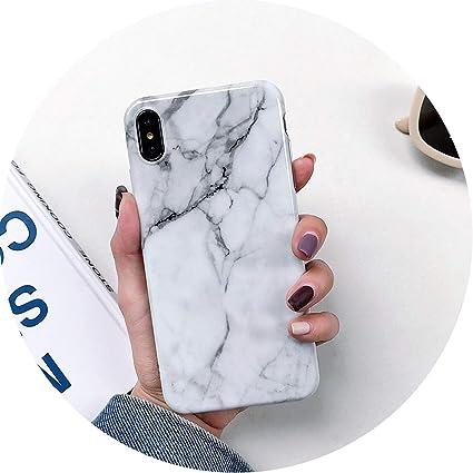 Amazon.com: Carcasa de silicona de mármol de lujo para ...