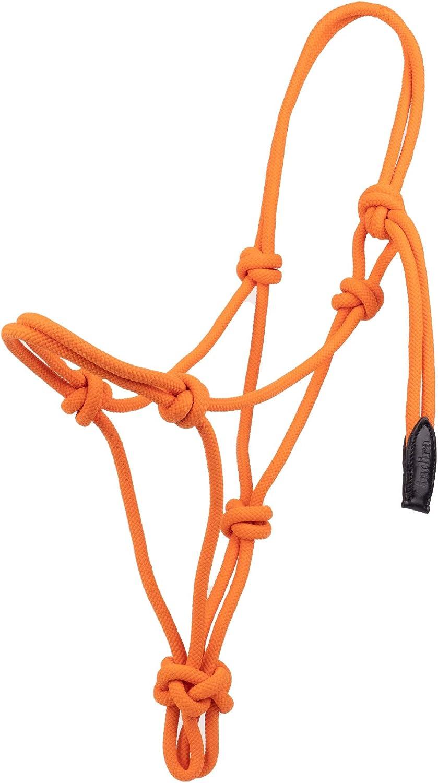 indira Knoten-Halfter pro PP-Strick-Echtleder