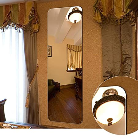 DECORAPORT 18 in x 57 in Wall-Mounted Full Length Wall Mirror Dressing Mirror A-D001