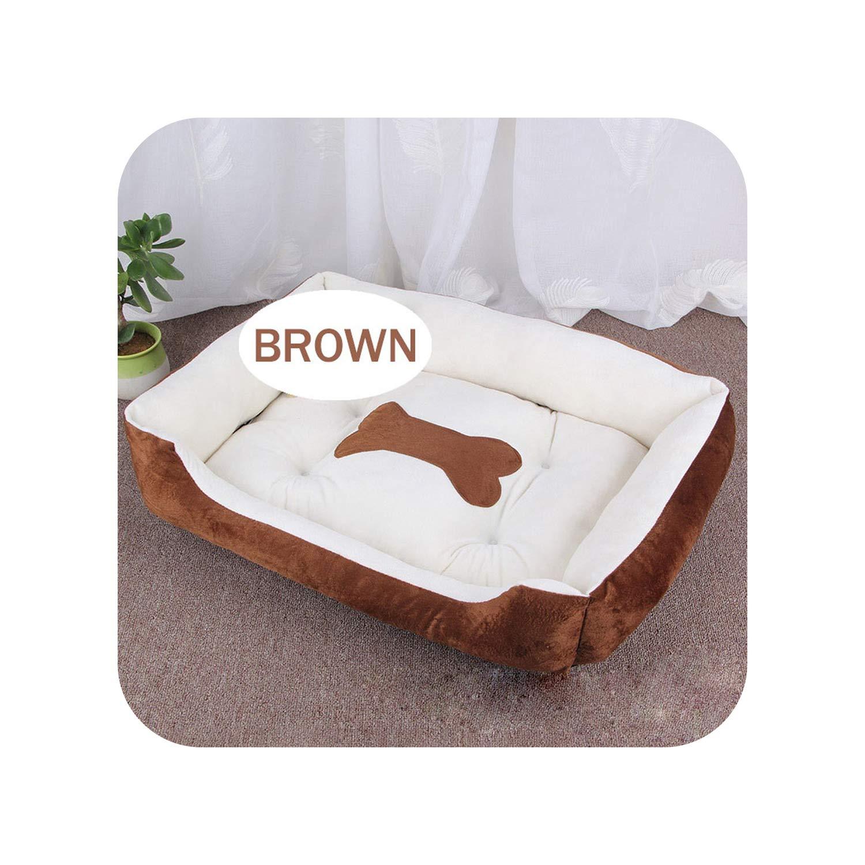 Amazon.com: Cama para perro, cojín con hueso, sofá cálido ...