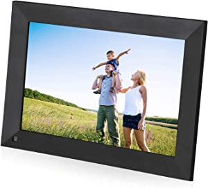 Powerextra Smart WiFi Digital Picture Frame 10 inch Touch Screen HD Display 16GB Storage, Send Photos or Small Videos from Anywhere, Auto-Rotate, Share Photos via App, Email, Cloud
