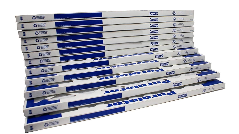 Assigned by Sterling Seal & Supply HI-12x24x1x12CS.stel 12x24x1, Furnace Air Filter, Purolator Hi-E 40 Extended Surface Air Filter, Mechanical MERV 8, Size 11-3/8''L x 23-3/8''H x 3/4''D (Pack of 12)