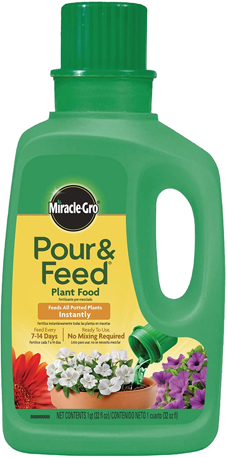 Miracle-Gro Pour & Feed Plant Food (Liquid), 32 fl. oz. (6 Pack)