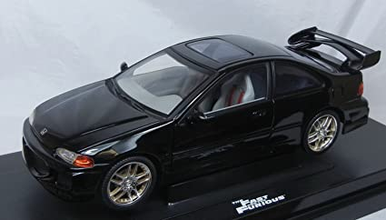 The Fast And The Furious 1995 Honda Civic Diecast Race Car 1:18 Scale By