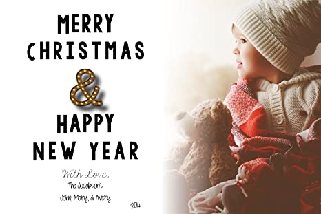 personalized christmas card classic christmas happy new year merry christmas happy holidays