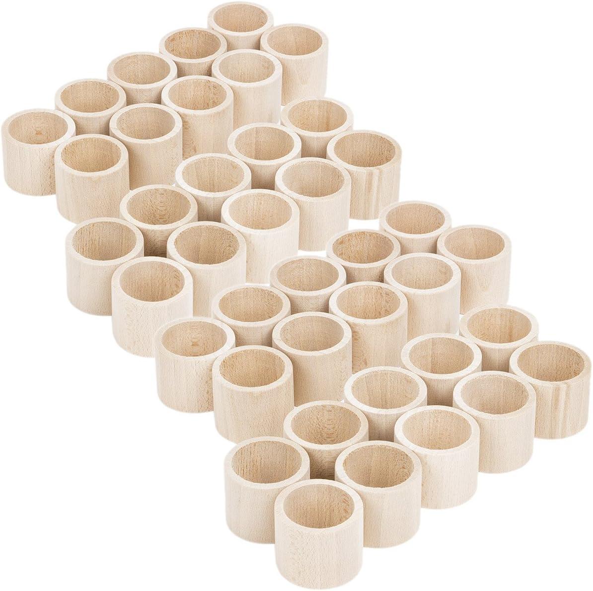 40 unidades Forma recta Madera servilleteros mesa boda accesorios ...
