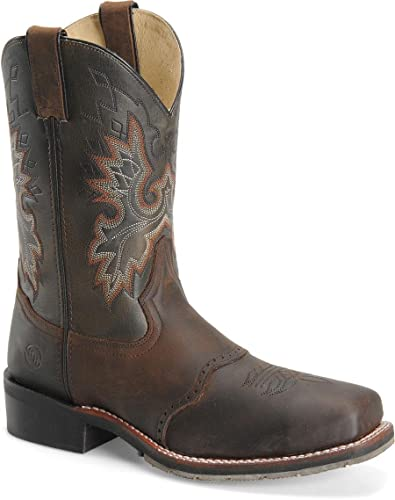 054866c2385 DH3658 Brown Mens 11 Inch Square Steel Toe Roper Double H Work Boots