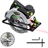 """GALAX PRO 12A 5500RPM Corded Circular Saw with 7-1/4"""" Circular Saw Blade and Laser Guide Max Cutting Depth 2.45"""" (90…"""