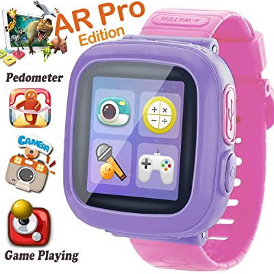 Kids Smart Watch, [AR Pro Edition] Game Smartwatch for Ages 3-12 Girls Boys Toddlers Digital Wristbands, 1.5'' Screen Camera Pedometer Alarm Clock Timer Learning Toys Holiay Birthday Gifts (Pink): Toys & Games