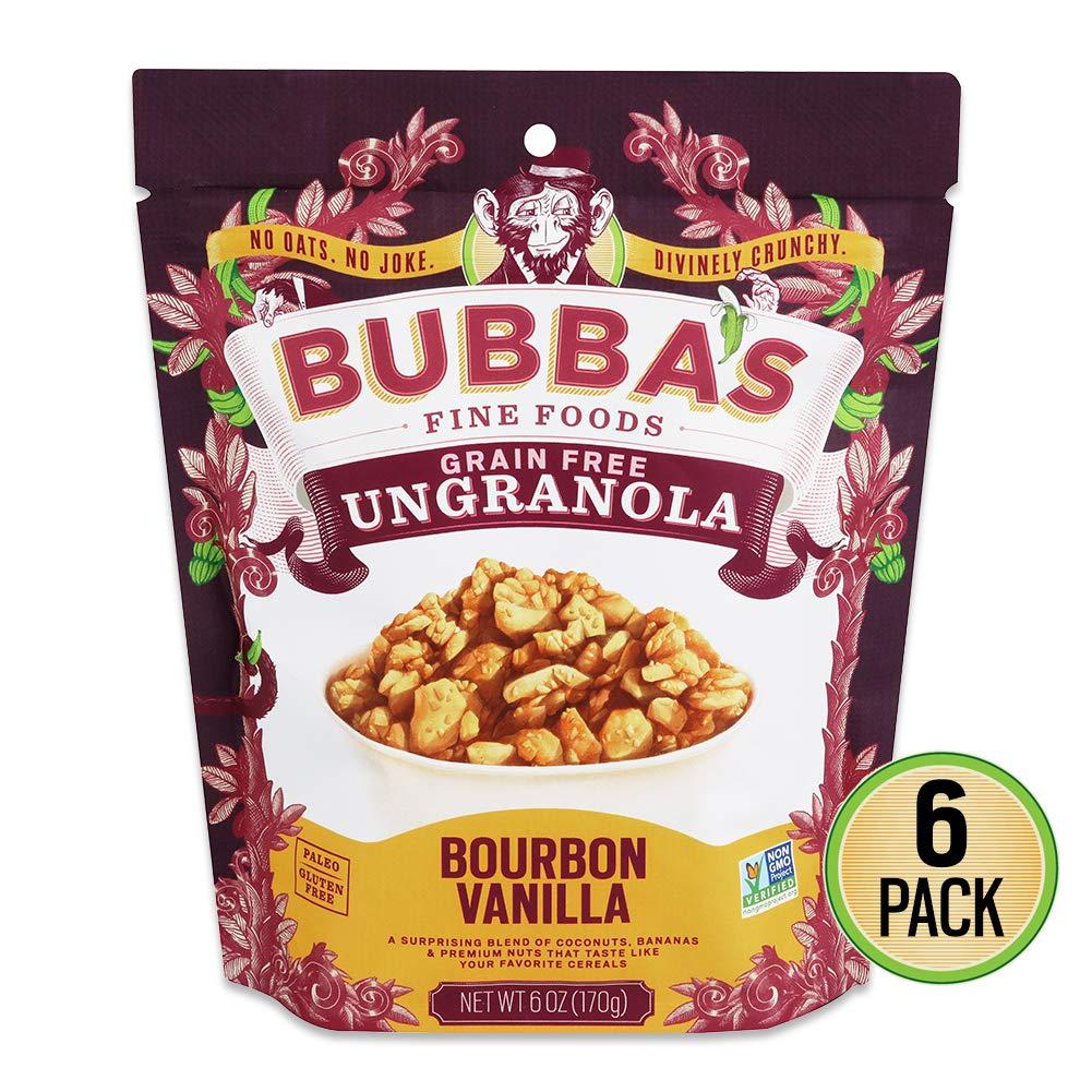Bubbas Fine Foods Granola, vainilla Bourbon, de 6 onzas ...