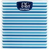 Pointrek Electronic Digital LCD Personal Health Body Fitness Weighing Scale (Stripes) Blue