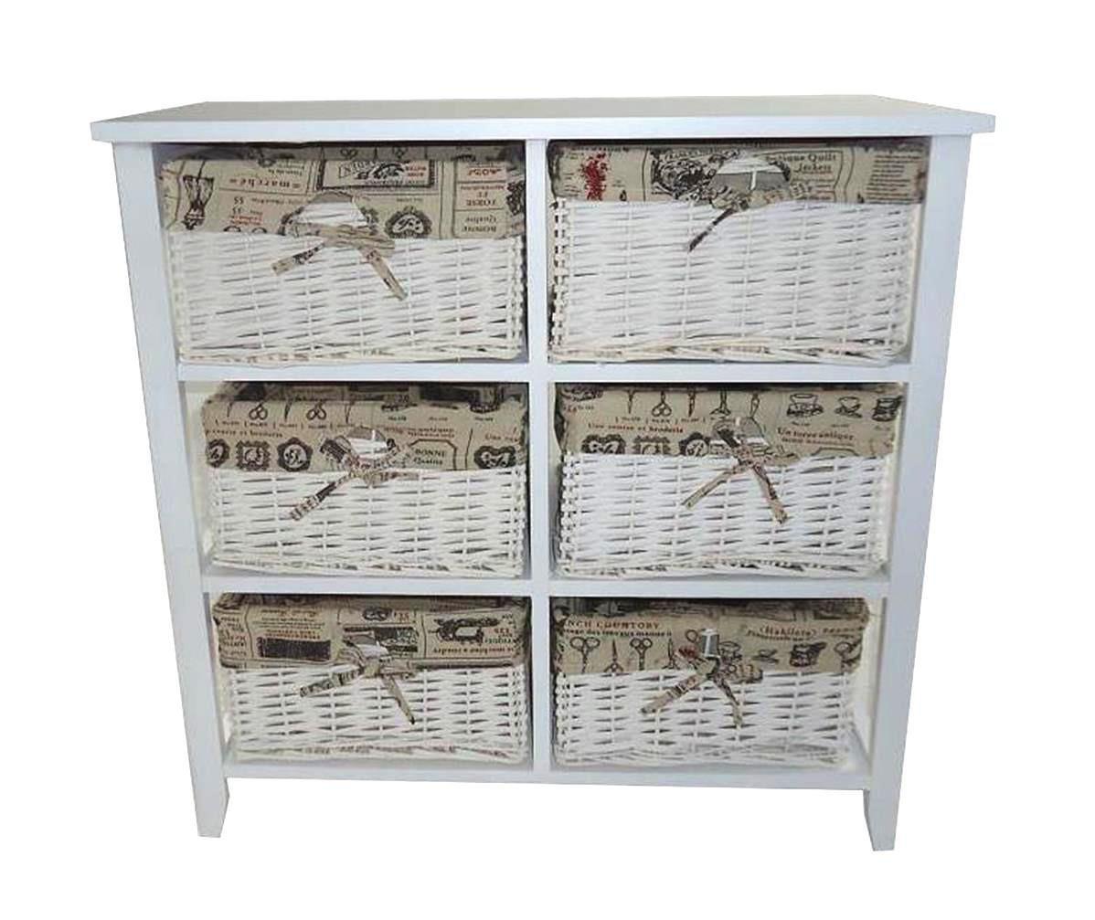 Assembled 6 Chest Of Drawer Livingroom Hallway Kids Bedroom Storage Unit Cabinet Topfurnishing Ltd DD7-F2A-3B6