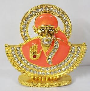 Odishabazaar Sai Baba Idol for Car Dashboard/Home/Office Item 7x6x1.5 cm