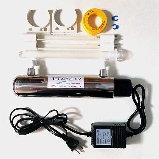 Pinkoi Purificador de agua ultravioleta de 12 W esterilizador de ...