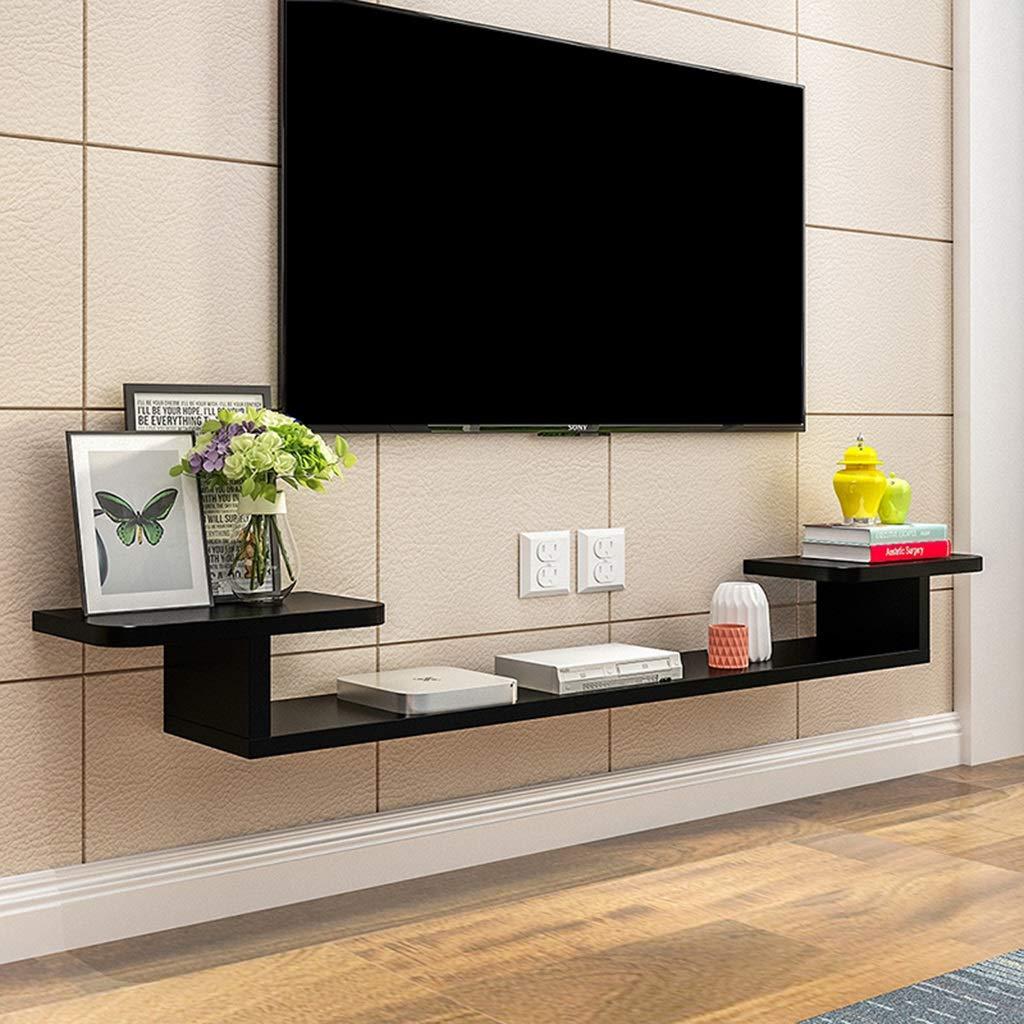 壁掛け棚壁掛けテレビスタンドテレビキャビネットテレビコンソールテレビ棚収納棚ケーブルボックスDVDプレーヤー収納棚マルチメディアコンソール (色 : B, サイズ さいず : 160×24×15cm) 160×24×15cm B B07RT5ML15