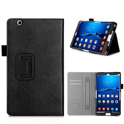 best service b0d6d 6849f Huawei MediaPad M3 8.4 Case - AVIDET Slim-Book Stand PU Leather Case Cover  for Huawei MediaPad M3 8.4 (Black)