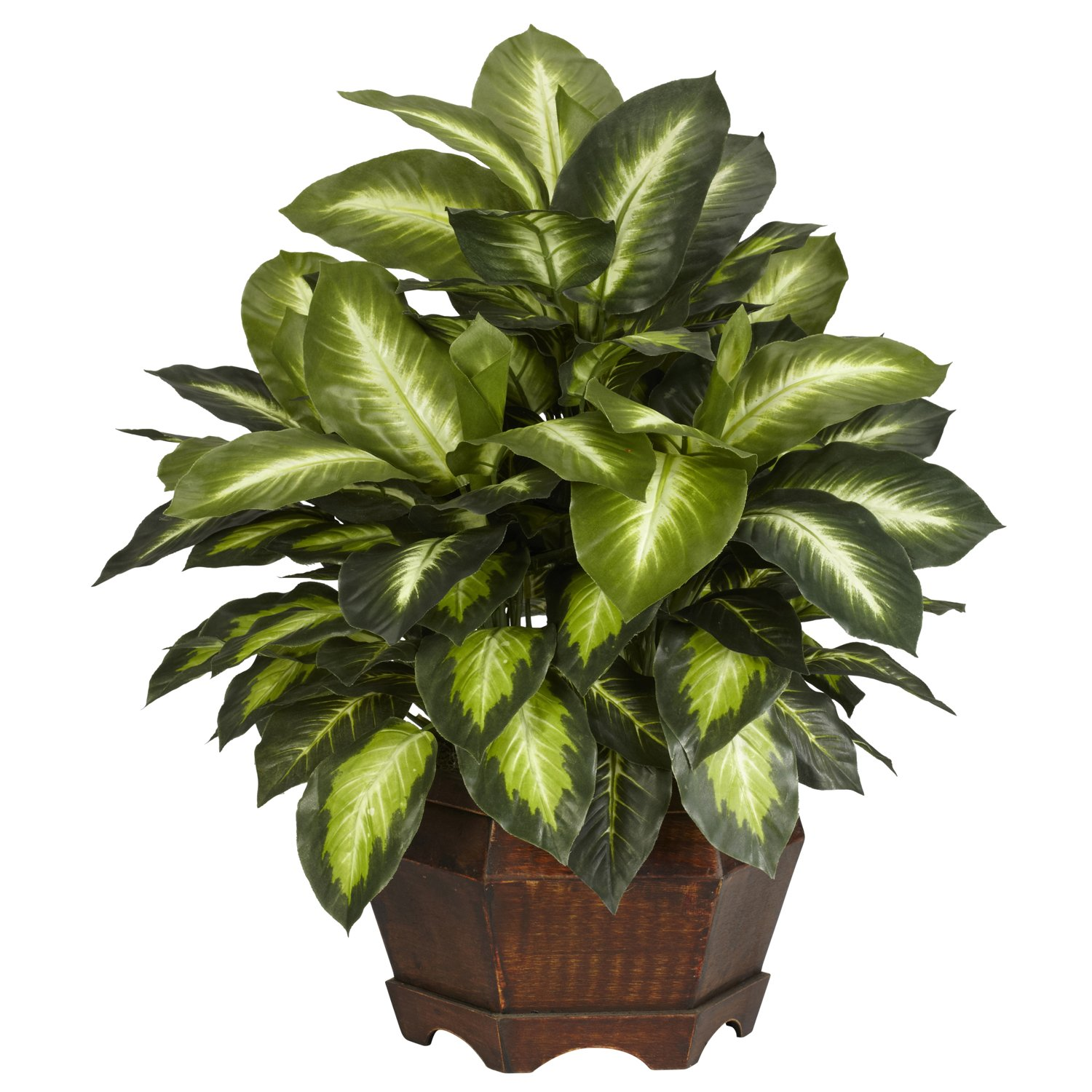 Nearly Natural 6639 Golden Dieffenbachia Decorative Silk Plant, Green