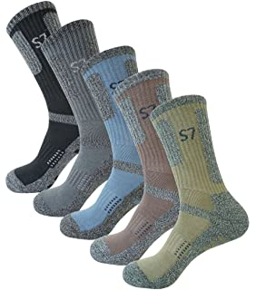 5pack Mens Bio Climbing DryCool Cushion Hiking/Performance Crew Socks