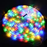 Yescom 5ft LED Spiral Christmas Tree Light 141 LEDs Battery Powered Indoor Outdoor Holiday Decoration Lamp Multi-Color