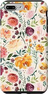 iPhone 7 Plus/8 Plus Western Pioneer Watercolor Floral with Watercolor Flowers Case