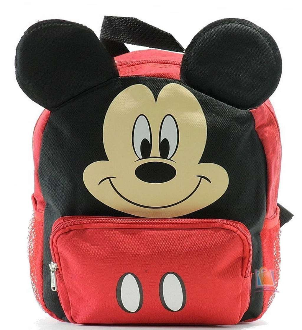 New Mickey Mouse Club House 3D Ears Small Toddler Backpack-8680 Ruz