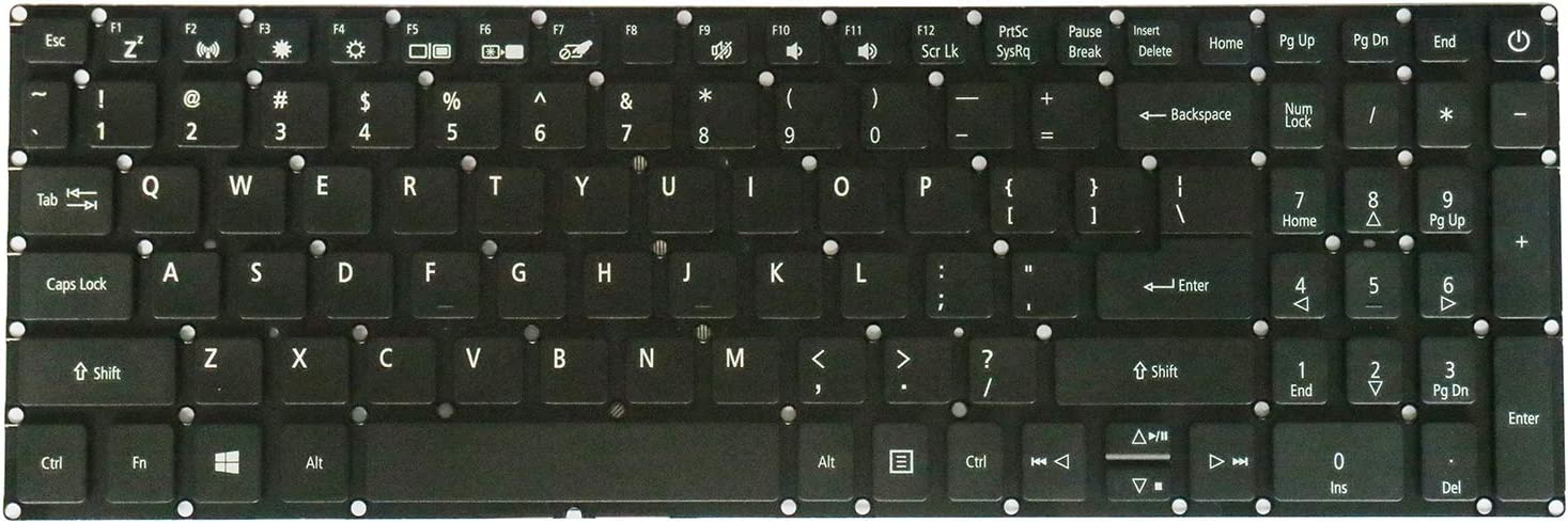 AUTENS Replacement US Keyboard for Acer Aspire 3 A315 Series A315-21 A315-21G A315-31 A315-32 A315-33 A315-41 A315-51 A315-53 A315-53G A315-54 Laptop (No Backlight)