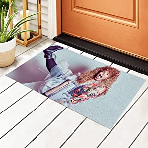 Meimall Janet Jackson Doormat Indoor Non Slip Entrance Rug Entryway Welcome Mats for Shoe Scraper for Kitchen Welcome Mat Outside High Traffic Area 15.7 by 23.6 Inc