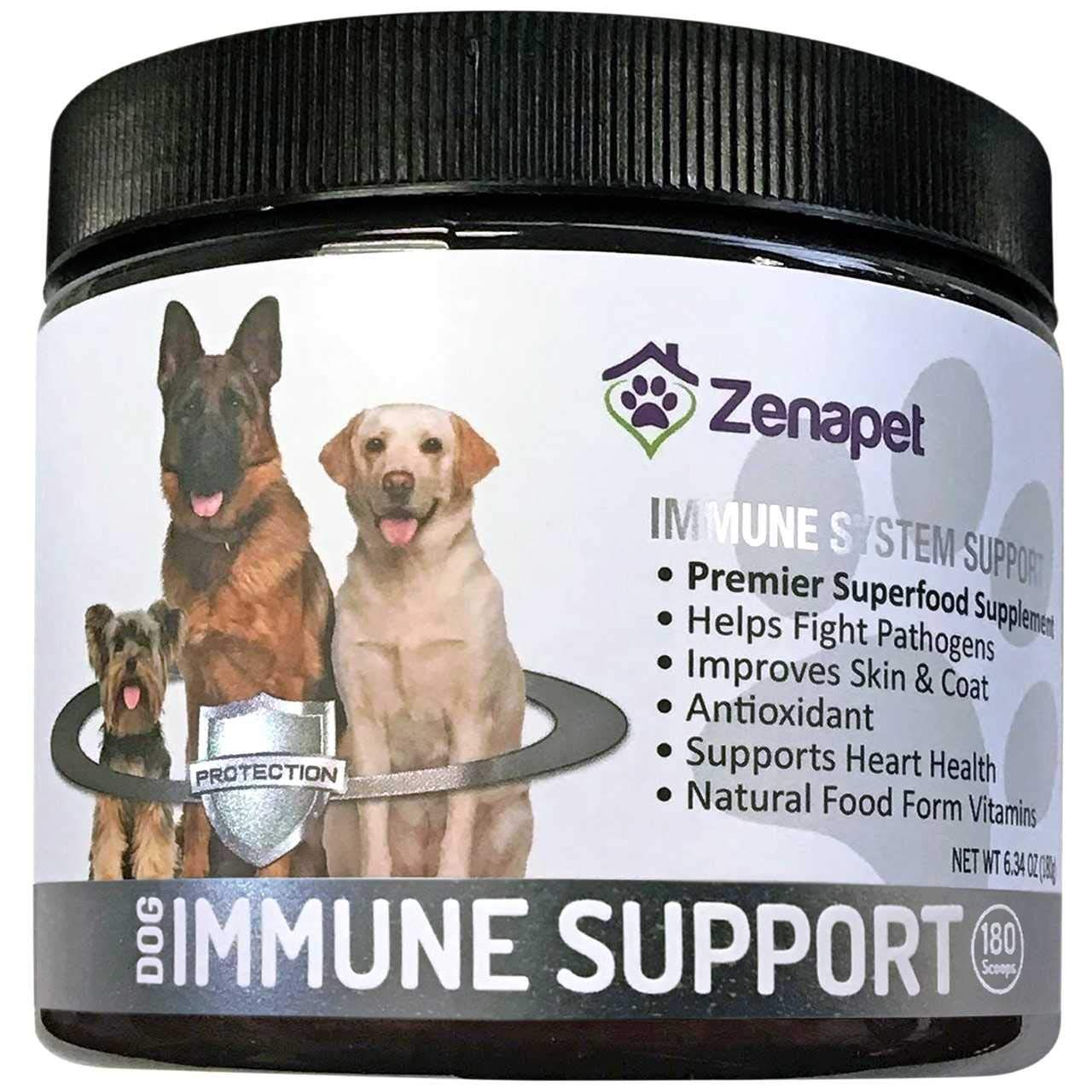 Zenapet Dog Immune Support-Immune Booster for Dogs-Safeguard Your Dog's Immune System-Premier Superfood Supplement for Your Pet-Natural Vitamins for Dogs in Food Form with Antioxidant Support by Zenapet