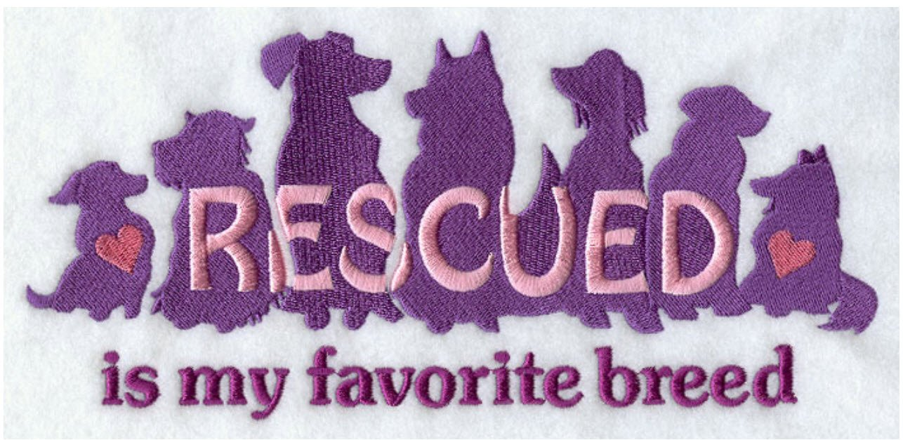 Dog Rescue Custom Embroidered Sweatshirt Shirt