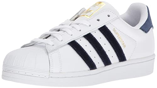 adidas Originals Women's Superstar WhiteNavyBlack 8.5 B US