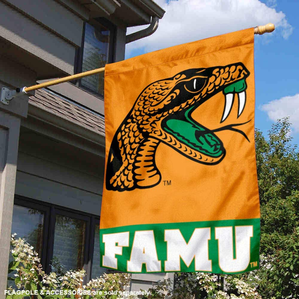 FAMU Rattlers 28 x 40 Two Sided House Flag College Flags and Banners Co