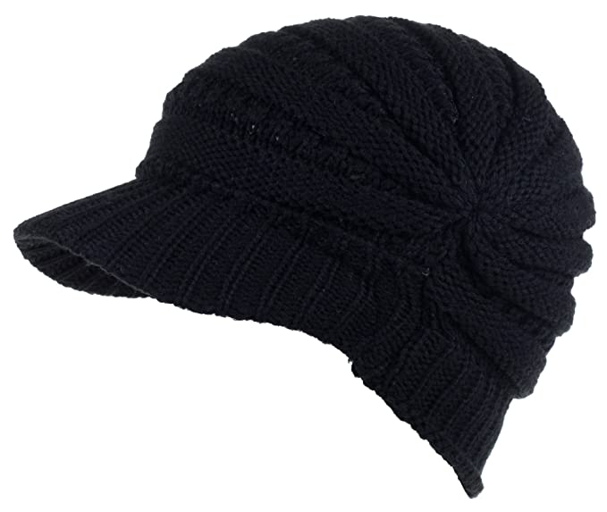 331d3f348432a DRY77 Fashion Futuristic Style Look Knitted Beanie Hat with Visor for  Women, Black: Amazon.ca: Books