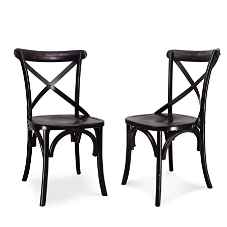 Joveco Vintage style solid wood dining chair – set of 2