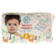 The Honest Company Disposable Diapers, Giraffe, Size 1, 44 Count