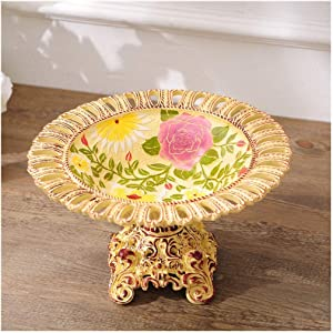 vertice Household Storage Bowls Fruit Bowls Painted Resin Crafts Fruit Bowls Decoration Large Dried Fruit Bowls Candy Plate