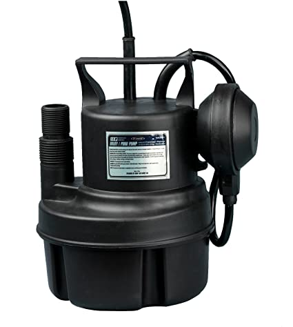 FPOWER 1/3HP Clean/Dirty Water Submersible Pump with 10-Foot Cord Utility  Pump with Automatic ON/Off Float Switch for Fountain, Pond, Pool, Aquarium,