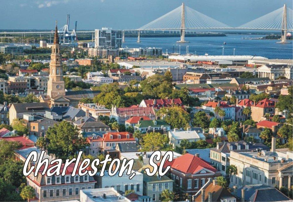 Charleston, SC, City, Skyline, South Carolina, Souvenir Magnet 2 x 3 Photo Fridge Magnet